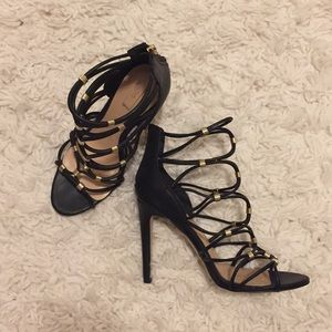 black strappy heels size 7.5
